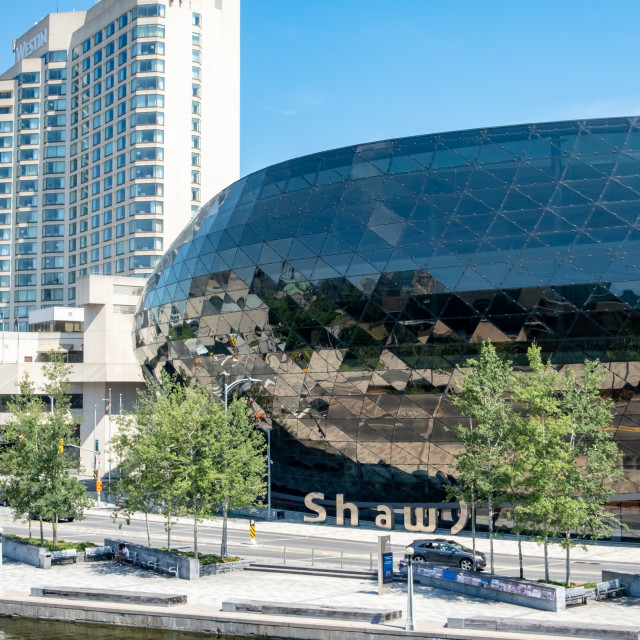 """""""Shaw Centre in Downtown Ottawa"""" stock image"""