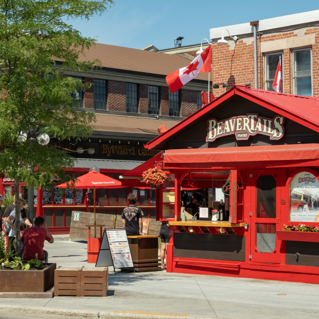 """""""BeaverTails Pastry Stand in Ottawa's ByWard Market"""" stock image"""