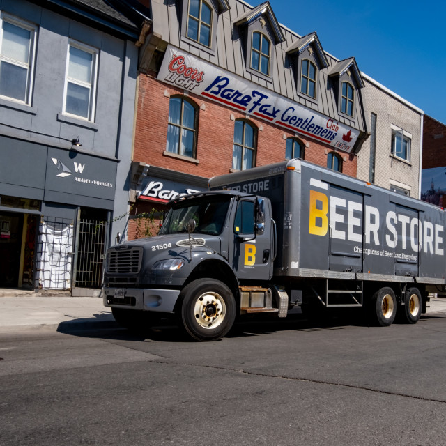"""""""Delivery from The Beer Store in Ottawa, Ontario"""" stock image"""