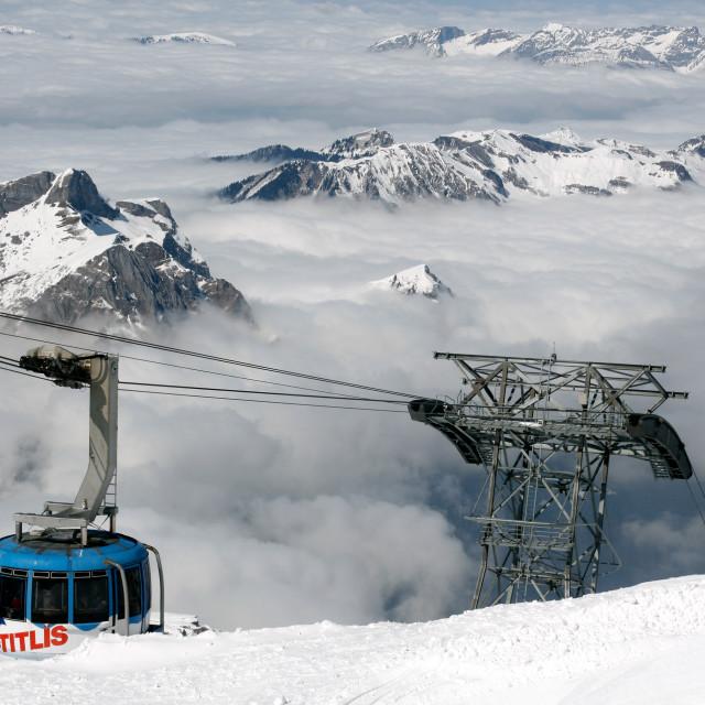 """Mount Titlis Rotair, Switzerland"" stock image"