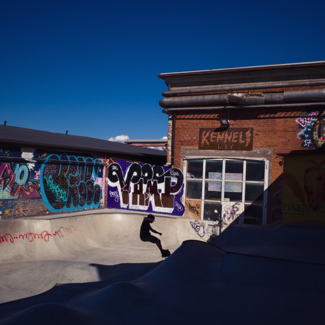 """Skate Pool II"" stock image"