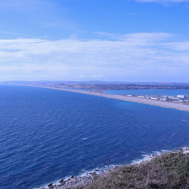 """Chesil Beach"" stock image"