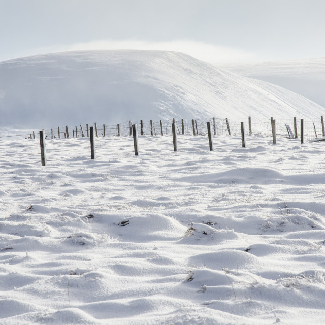 """Scottish Winter Snowscape"" stock image"