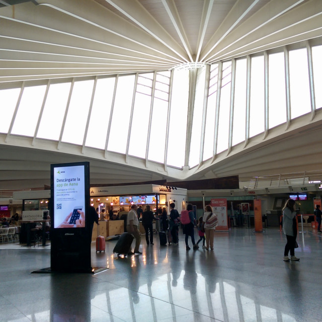 """Bilbao Airport Interior"" stock image"