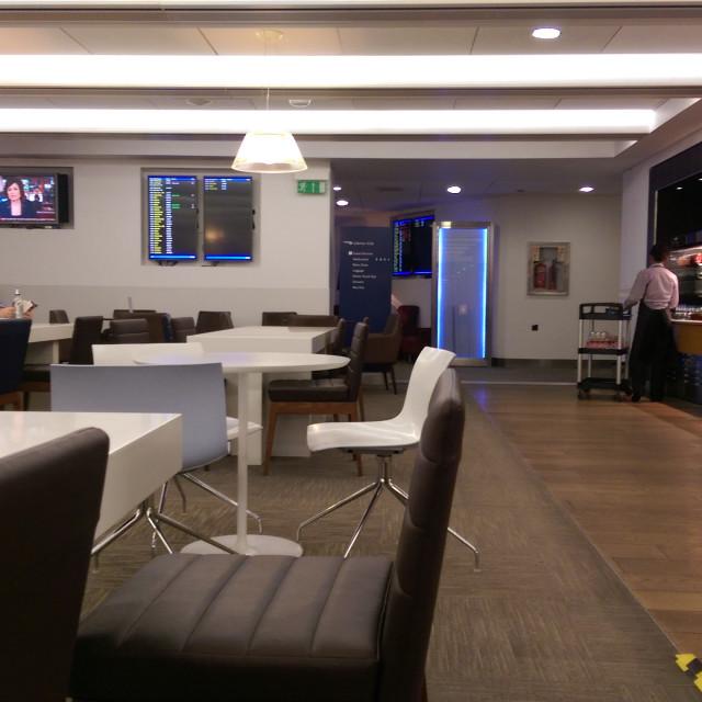 """BA Business Class Lounge, Heathrow Terminal 5"" stock image"