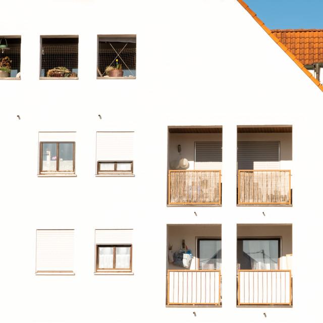 """A modern Bavarian house"" stock image"