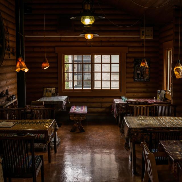 """Inside a Japanese restaurant, Hokkaido"" stock image"