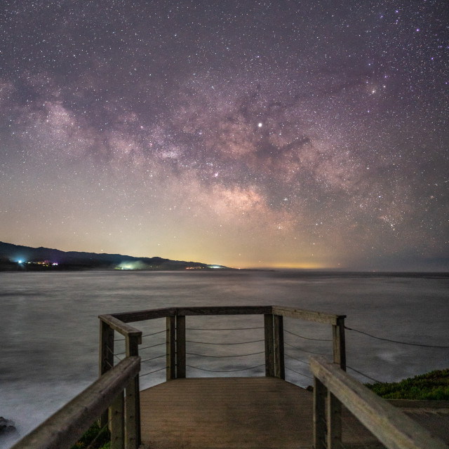 """""""Milky Way Lookout Point"""" stock image"""