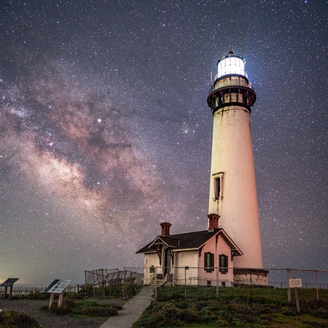 """""""Pigeon Point Milky Way"""" stock image"""