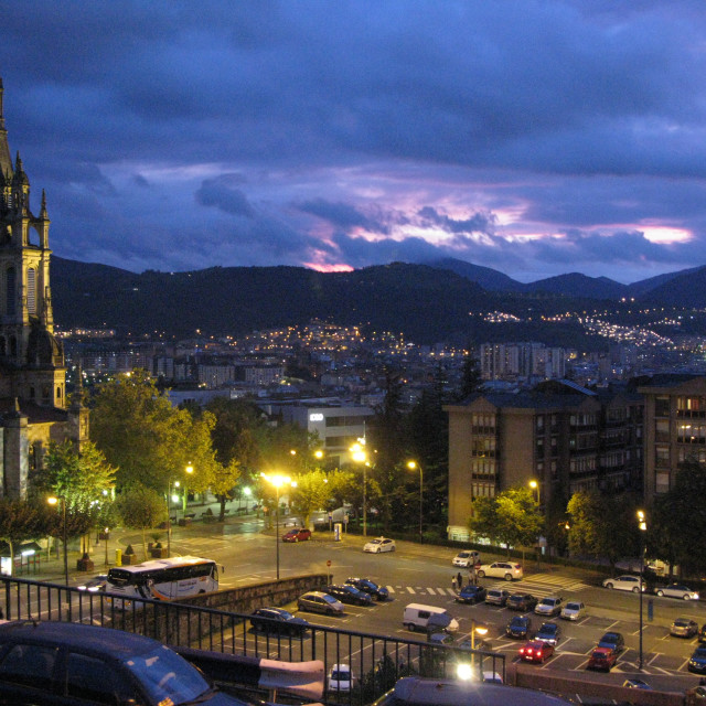 """Bilbao at Dusk"" stock image"