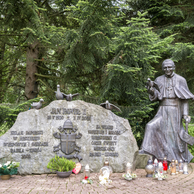 """John Paul II Statue"" stock image"