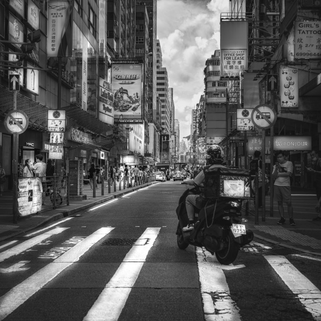 """Street shot of Mong Kok"" stock image"