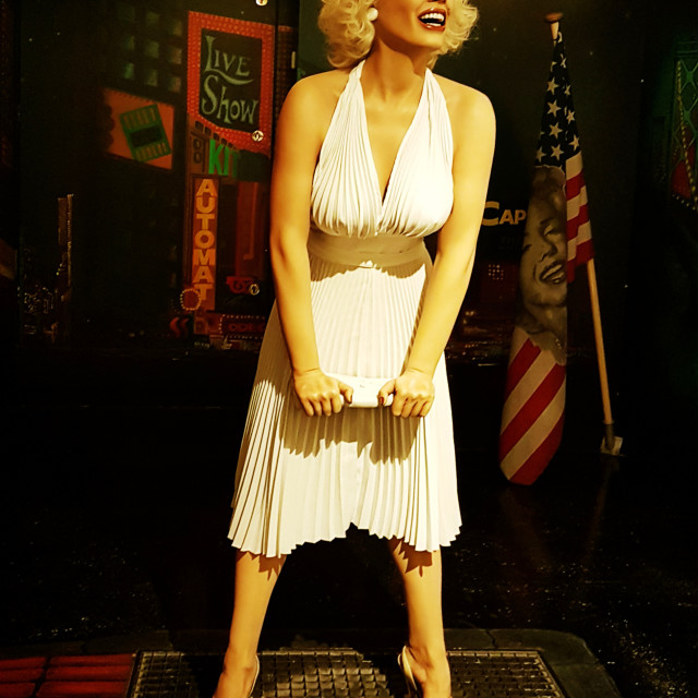 """""""Marilyn On The Subway Grate"""" stock image"""