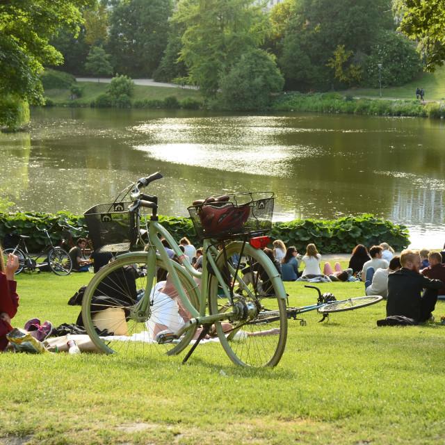 """""""Ørsteds Park, Copenhagen, Denmark"""" stock image"""