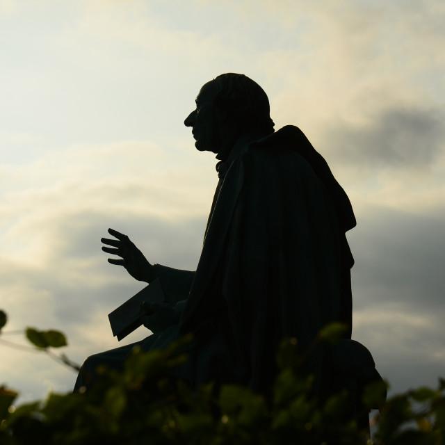 """""""Hans Christian Andersen Statue, Copenhagen"""" stock image"""