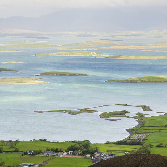 """View over Clew Bay from Croagh Patrick, Ireland"" stock image"