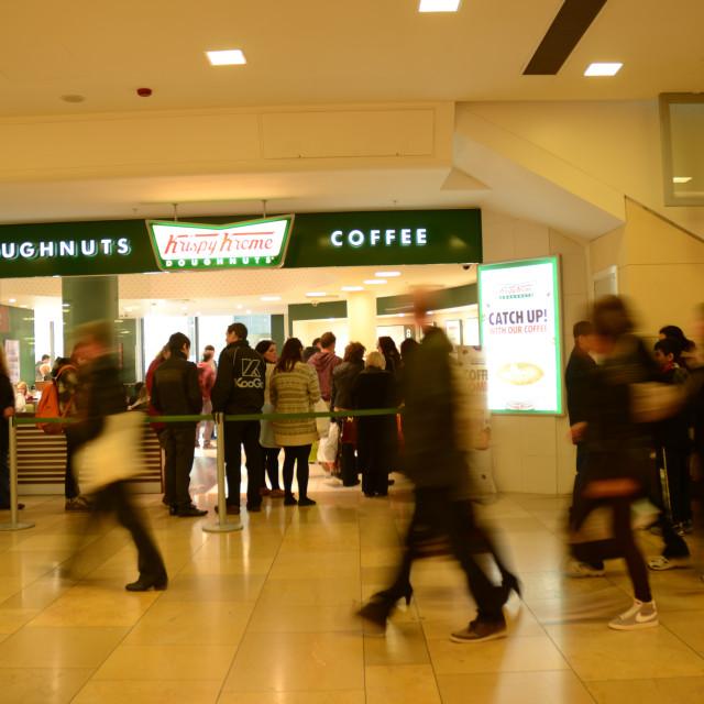 """""""Krispy Kreme store in Cardiff, Wales"""" stock image"""