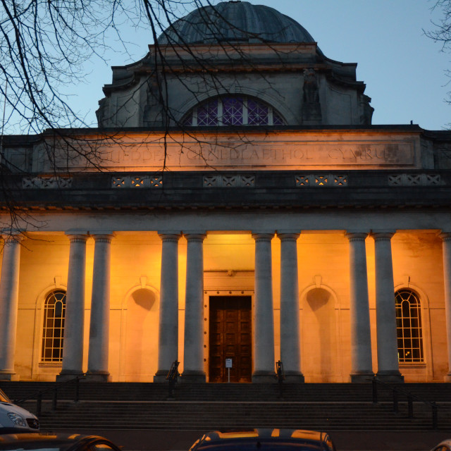 """""""Neoclassical Architecture, Cardiff, Wales"""" stock image"""