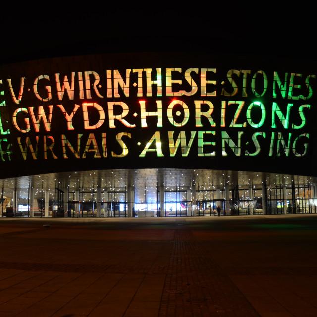 """Wales Millennium Centre, Cardiff"" stock image"