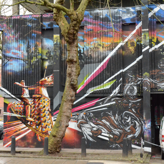 """Graffiti / Mural, Bristol, England"" stock image"