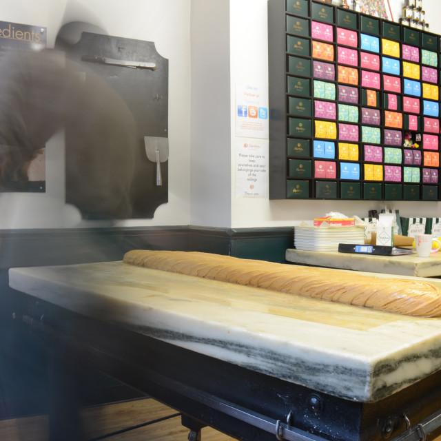 """Fudge Making in Bath, England"" stock image"