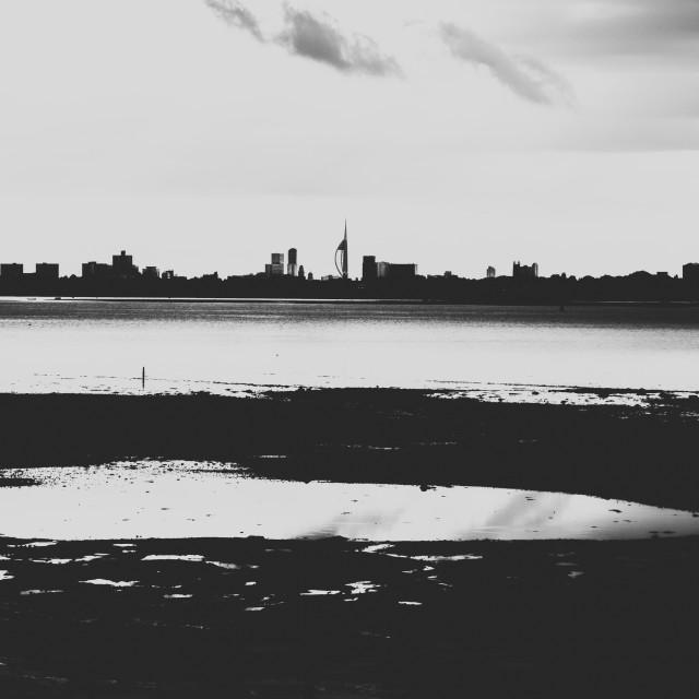 """Portsmouth Skyline."" stock image"