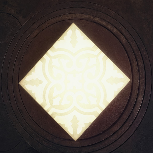 """Rustic Diamond (Yellow)"" stock image"