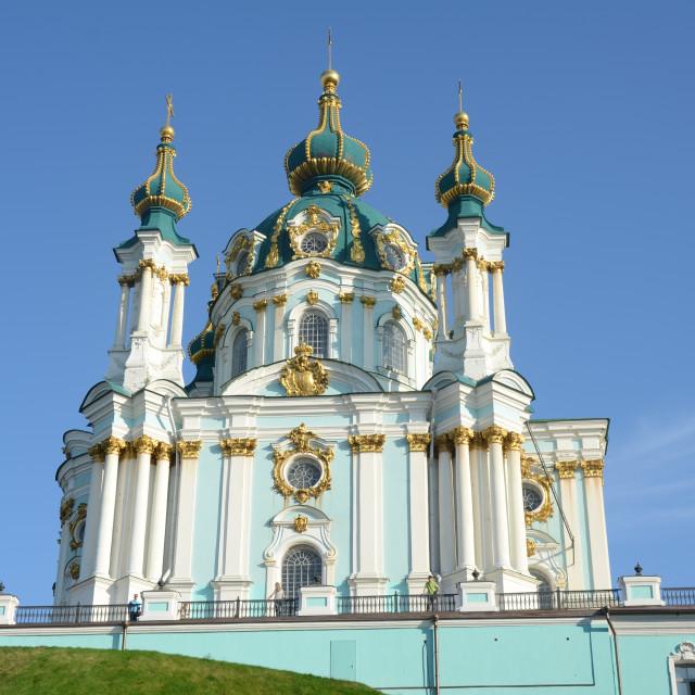 """St. Andrew's Church, Kyiv"" stock image"