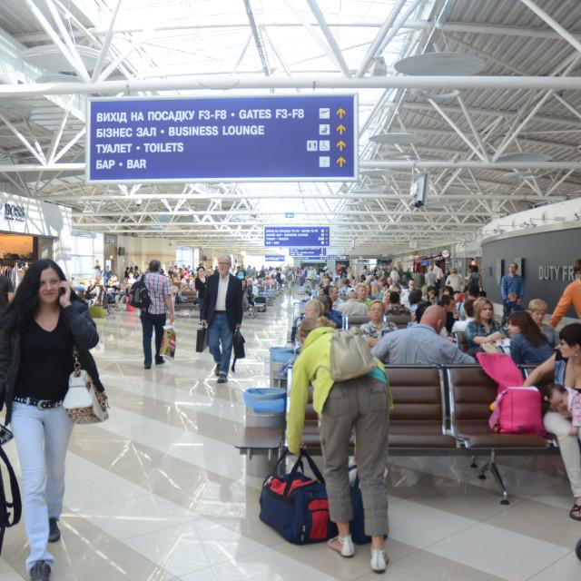 """Boryspil International Airport, Kyiv"" stock image"