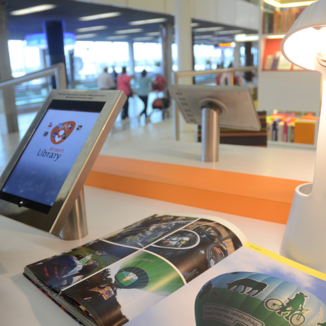 """""""Library, Amsterdam Schiphol Airport"""" stock image"""