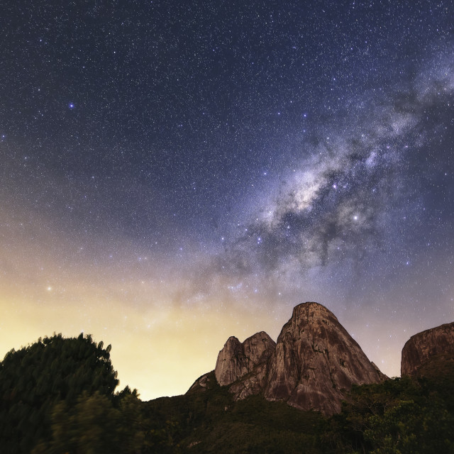 """""""Our Home, The Milky Way"""" stock image"""