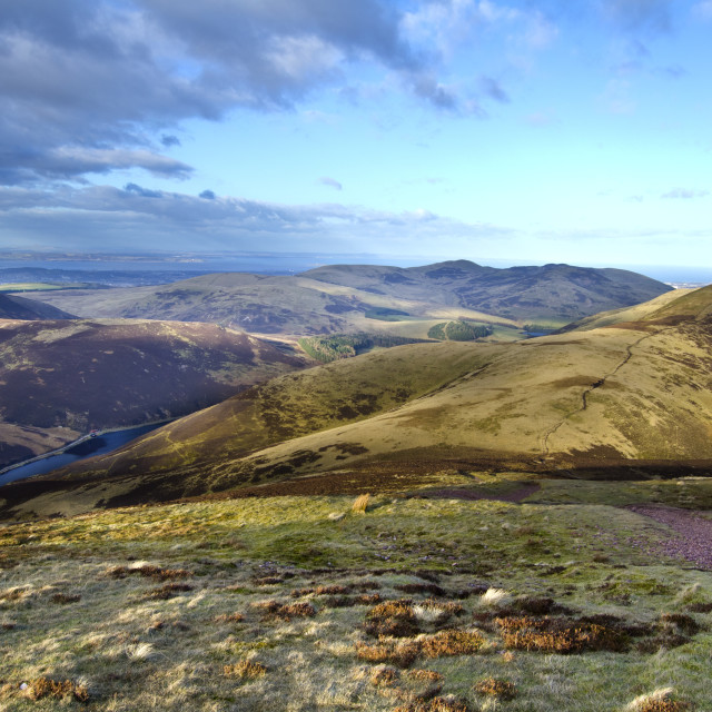 """View from Pentland Hills"" stock image"
