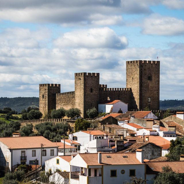 """Castle of Amieira"" stock image"