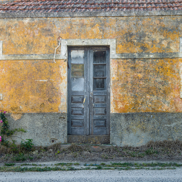 """""""Façade of an abandoned house in Alenquer"""" stock image"""