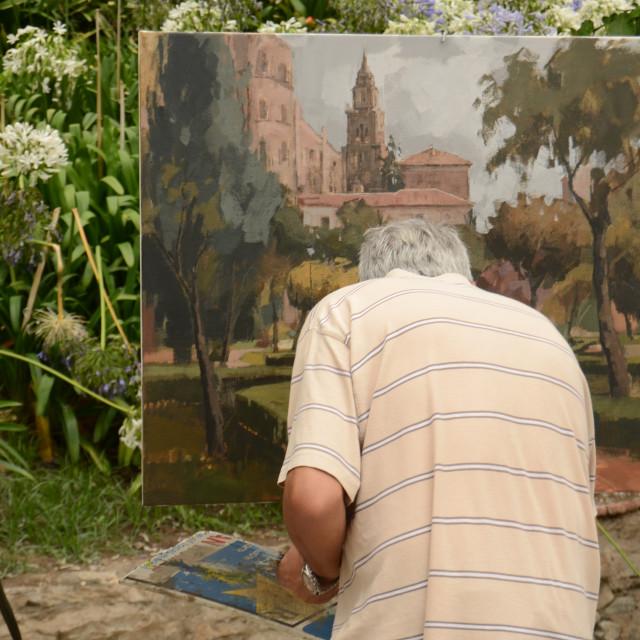 """Artist, Malaga, Spain"" stock image"