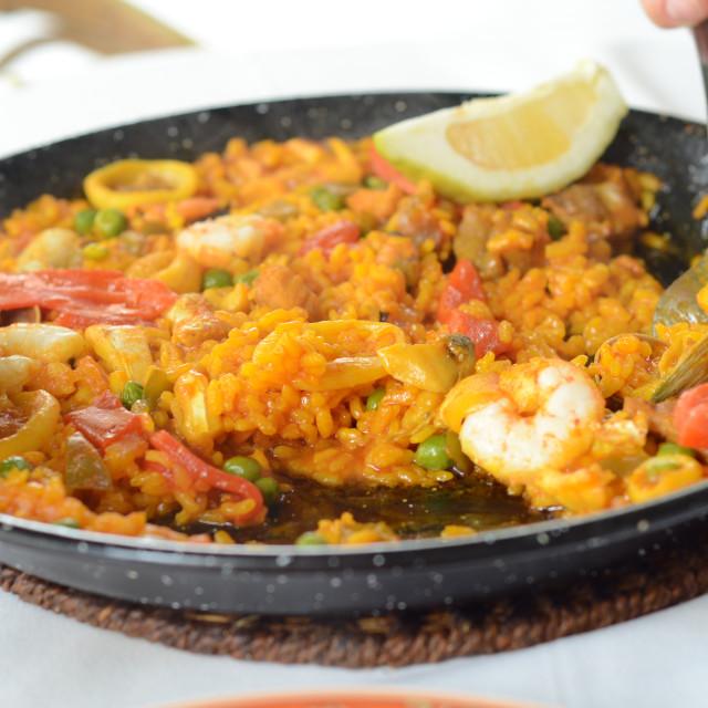 """""""Seafood Paella"""" stock image"""