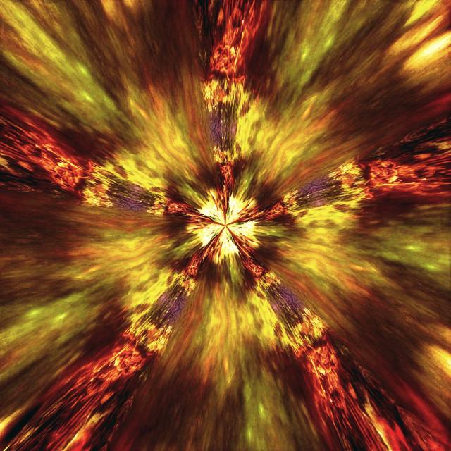 """""""Flower Whirl II"""" stock image"""