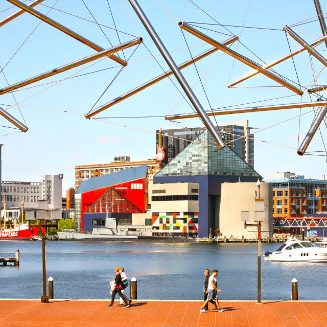 """Baltimore Marina"" stock image"