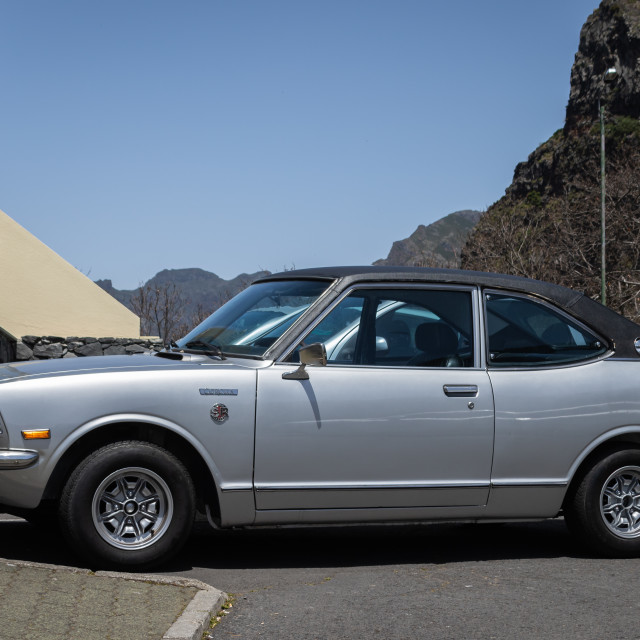 """Shiny Toytoa Corolla SR classi car"" stock image"