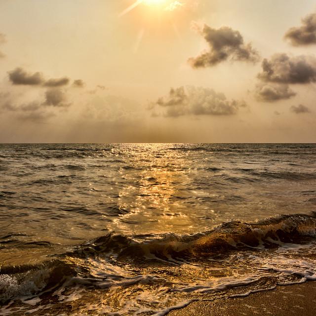 """""""Smokey sunrise"""" stock image"""