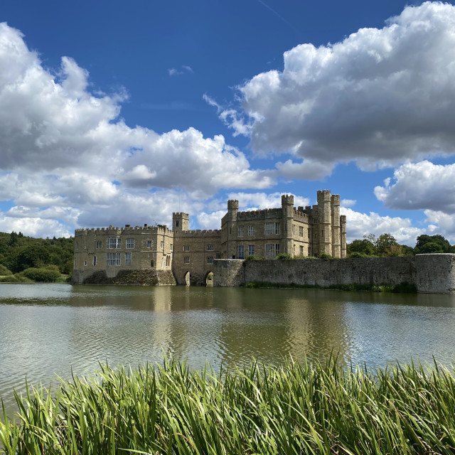 """Sunny day at Leeds Castle"" stock image"