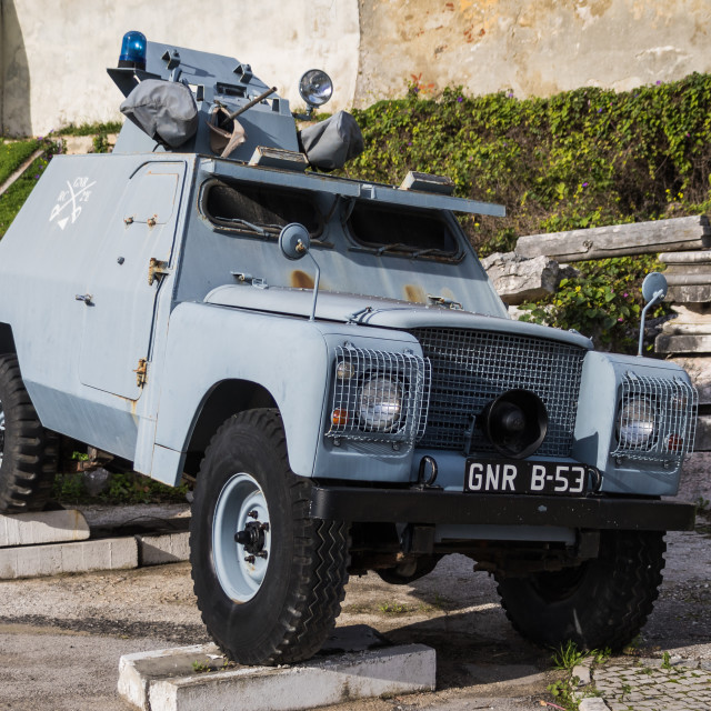 """Shorland Mk III armoured car in display as a gate guardian"" stock image"