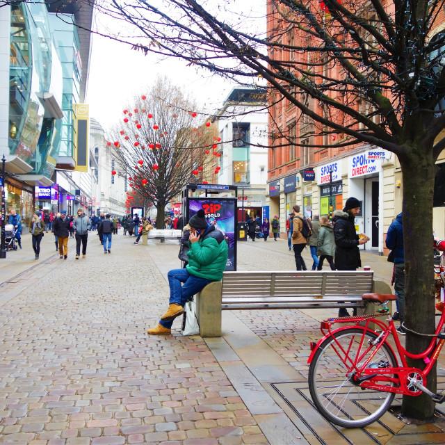 """""""Manchester Street Scene."""" stock image"""
