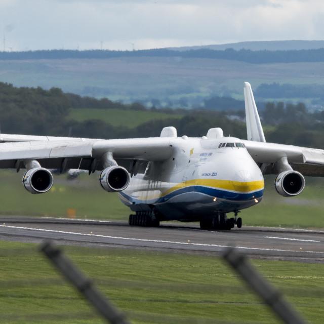 """""""Antonov An-225 Mriya Landing"""" stock image"""