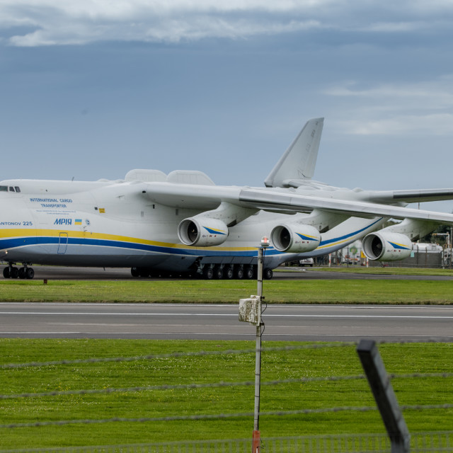 """Antonov An-225 Mriya landed"" stock image"
