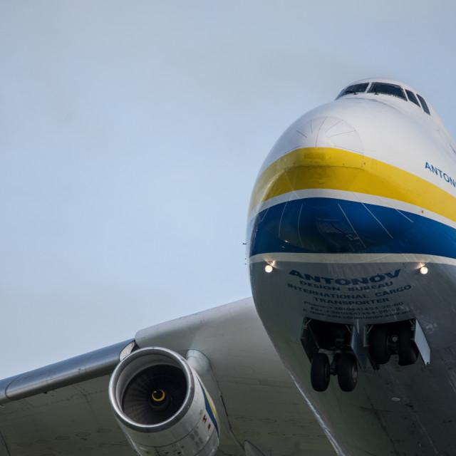 """Antonov An-225 Mriya Take Off"" stock image"