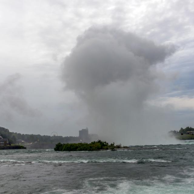 """The Niagara Falls"" stock image"
