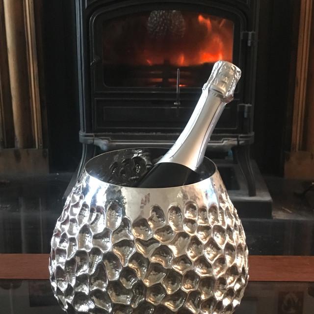 """Fine Silver Champagne bucket"" stock image"