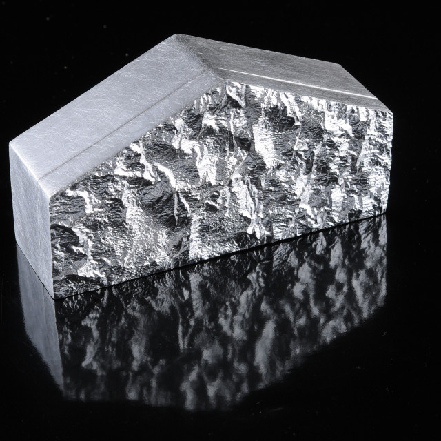 """""""Reticulated silver box by Kevin O'Dwyer"""" stock image"""