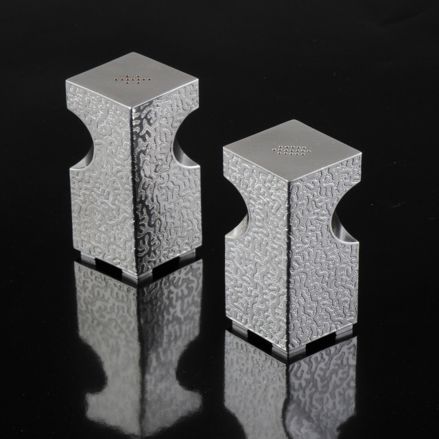"""""""Architectural Salt and Pepper shakers by Kevin O'Dwyer"""" stock image"""